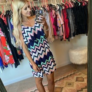 NWOT chevron dress
